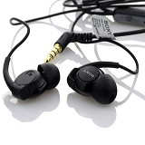 WANKY CELL Sony Stereo Handsfree Earphone EX Monitor [MH-EX300AP] - Black - Earphone Ear Monitor / Iem